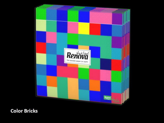 Renova Color Bricks Servietten